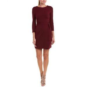 Susana Monaco Alena Belted Dress in Wine Color